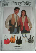 UNISEX LINED AND DECORATED VEST IN MISSES, MENS OR TEEN BOYS CHEST SIZE 30-120cm SIMPLICITY PATTERN 9653 SUITABLE FOR SERGER SEWING