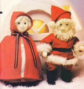 Vogue 8442 Santa and Mrs, Santa 43cm Dolls with Clothes Sewing Pattern 1980s