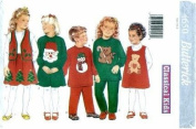 Butterick 4650 Children's Christmas Dress, Top, Jumper, Vest, Skirt & Pants, Sizes 2, 3, 4, 5