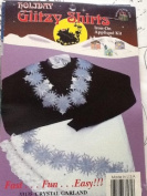 Crystal Garland - Holiday Glitzy Shirts Iron-on Applique Kit #33135