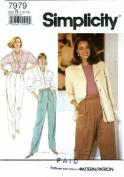 Simplicity 7979 Sewing Pattern Misses Pants Shirt Shirt-Jacket Size 10 - 14 - Bust 32 1/2 - 36