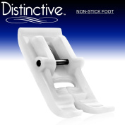 Distinctive Non-Stick Sewing Machine Presser Foot - Fits All Low Shank Snap-On Singer*, Brother, Babylock, Euro-Pro, Janome, Kenmore, White, Juki, New Home, Simplicity, Elna and More!