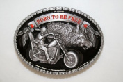Brand:choi Born to Be Free Biker Motorcycle Wolf Belt Buckle At-066