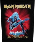 XLG Iron Maiden Fear of the Dark Live Rock Music Woven Applique Patch