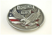 Brand:choi Pewter Style American Pride Us Flag Soaring Eagle Belt Buckle Wt-093