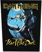 XLG Iron Maiden Fear Of The Dark Metal Music Band Woven Applique Patch
