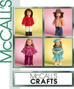 Mccalls Crafts M5288 46cm Doll American Girl Sized Fits Modern 70s Julie Style Clothes Pattern