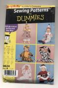 Simplicity Toddler's Costumes Clown, Santa, Tiger, Dog and Rabbit Sewing Pattern # 0624