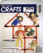 McCall's 9074 Crafts Sewing Pattern Blossom Babies Soft Sculpture Dolls