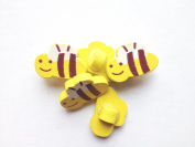 100pcs Wooden Buttons in Bulk Buttons for Crafts Yellow Bees Bu-18