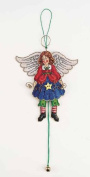 Angel Jumping Jack Cross Stitch Ornament
