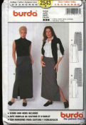 Burda Sewing Pattern 2543 Misses Size 8-22 Straight Lined Skirt