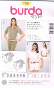 Burda Style Blouse/Bodysuit Sewing Pattern 18680cm Sizes 8 - 18