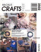 McCall's 3502 Crafts Sewing Pattern Pillows Wreath Necklace Apron Placemats Napkin Rings