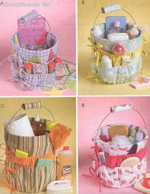McCall's 4858 Crafts Pattern Bucket Organisers