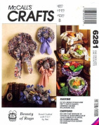 McCall's 6281 Crafts Pattern Rag Crochet Package