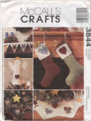 McCall's Crafts Angle Tree Topper, Stockings, Mantle Scarf More Sewing Pattern #3844