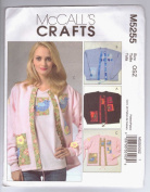 McCall's Crafts M5255 Pattern Appliques For Purchased Sweatshirt Cardigan and T-Shirt