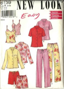 New Look Sewing Pattern 6139 Misses Size 8-18 Easy Camisole Button Front Shirt Pants Shorts