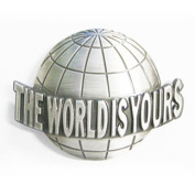 new western the world is yours belt buckle T035