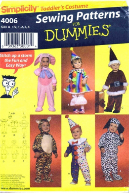 Simplicity 4006 Toddlers Costumes Sewing Pattern