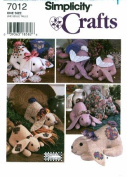 Simplicity 7012 Crafts Sewing Pattern Decorative Rabbit