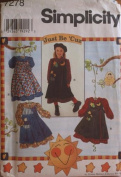 Simplicity 7278 Girls Pinafore & Dress pattern - Size AA