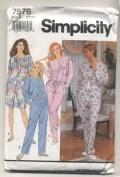 Simplicity 7576 Misses Night Shirt and Pyjamas Sewing Pattern