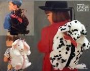 UNCUT & OOP VOGUE CRAFT 9112 FUR DOG, BEAR OR BUNNY BACKPACKS SEWING PATTERN