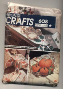 Vintage McCalls Crafts Holiday Table Setting Sewing Pattern #608