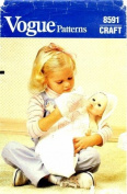 Vogue 8591 Crafts Sewing Pattern Baby Doll Bunting Towel Mitt Bib Appliques