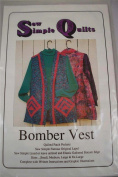 Womens Bomber Vest Pattern Sew Simple Quilts Patch Pockets Uncut Sm To X-Large