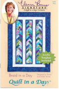Braid in a Day Quilt Pattern, Jelly Roll 6.4cm Strip Set Friendly, Acrylic Template Included