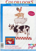 Dizzle Colorlooks Iron-On Transfer ~ Animal Stack