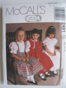 McCall's Pattern 2491 Girls' Jacket, Pinafore and Dress Sizes 6-7-8