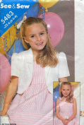 See & Sew Pattern 5483 ~ Girl's Jacket & Dress ~ Sizes 2-3-4
