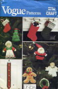 Vogue Craft Pattern 8752 ~ Christmas Ornaments and Decor By Linda Carr