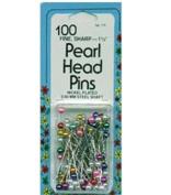 White Pearl Head Pins Size 24 100/Pkg