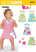 New Look Sewing Pattern 6576 Babies Dresses, Size A