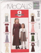 McCall's 2422 - Children's & Girls Dress in Two Lengths with Bolero Jacket - Sizes 10-12-14
