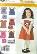 Simplicity Toddlers Jumper, Blouse and Tote Bag Sewing Pattern # 3662