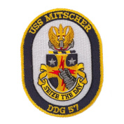 USS Twisted Rope Patches - USS Mitscher W01S49B