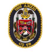 Scalloped Edge USS Patches - USS Anzio W01S49C