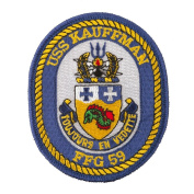 USS Solid Border Patches - USS Kauffman W01S49D