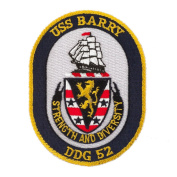 USS Twisted Rope Patches - USS Barry W01S49B