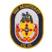USS Twisted Rope Patches - USS Monterey W01S49B