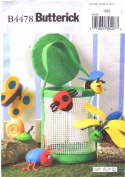Butterick 4478 Crafts Sewing Pattern Felt Bug Basket Finger Puppets