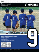 SEI 13cm Iron-On Team Pack Athletic Number Transfers, White, 2-Sheet