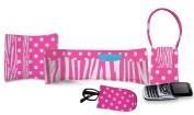 Daisy Kingdom Easy Cut and Sew Accessory Kit, Pink Zebra Stripe