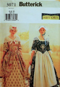 Butterick 3071 Colonial Dress Costume Size 6-8-10